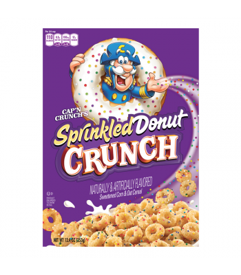 Clearance Special - Cap'n Crunch's Sprinkled Donut Crunch 12.4oz (353g) **Best Before: 11 November 17** Clearance Zone