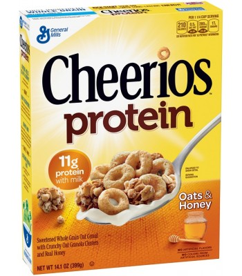 Clearance Special - Cheerios Protein Oats & Honey 14.1oz ** Damaged **April 2017 **