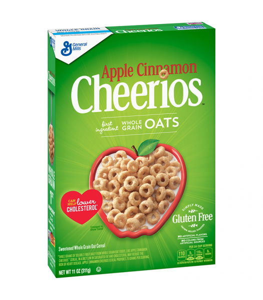General Mills Apple Cinnamon Cheerios Cereal - 11oz (311g) Food and Groceries Cheerios