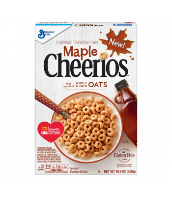 Maple Cheerios Cereal - 10.8oz (306g) Food and Groceries General Mills