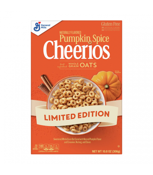 General Mills Pumpkin Spice Cheerios - 10.8oz (306g) Sweets and Candy General Mills