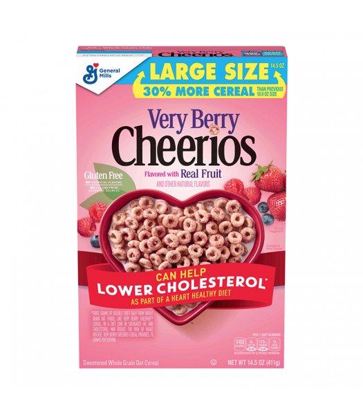 Cheerios Very Berry Cereal Large Size - 14.5oz (411g) Food and Groceries General Mills