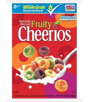 Fruity Cheerios Cereal  12oz (340g) Breakfast & Cereals Cheerios