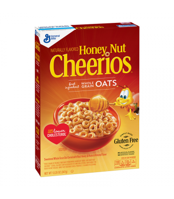 Honey Nut Cheerios Cereal Box 12.25oz (347g) Breakfast & Cereals Cheerios