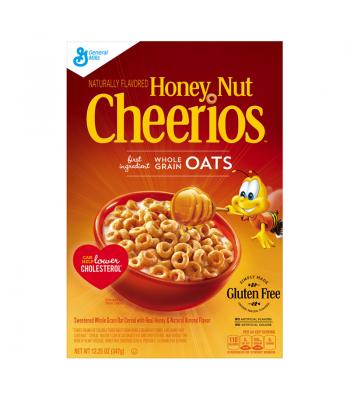 Honey Nut Cheerios Cereal Box 12.25oz (347g) Breakfast & Cereals Cheerios