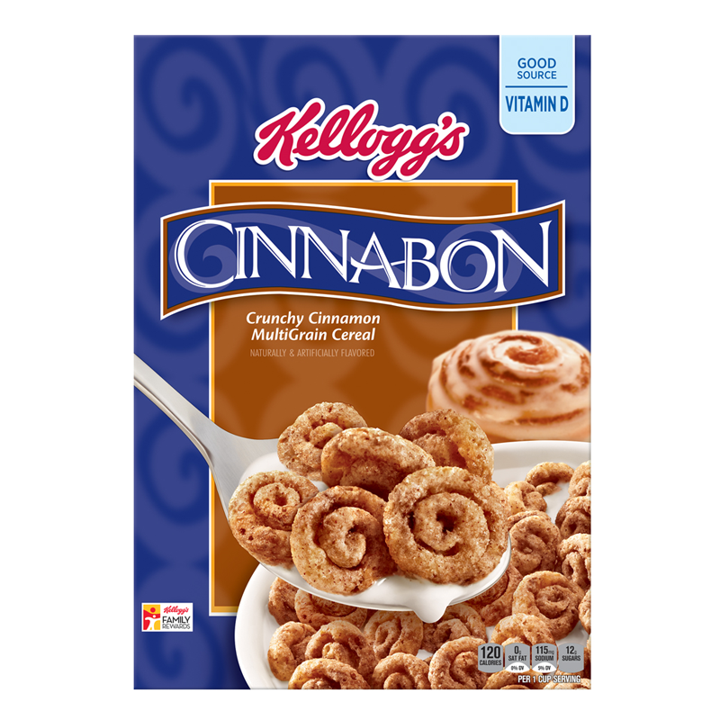 Kellogg's Cinnabon Crunchy Cinnamon Multigrain Cereal 9oz