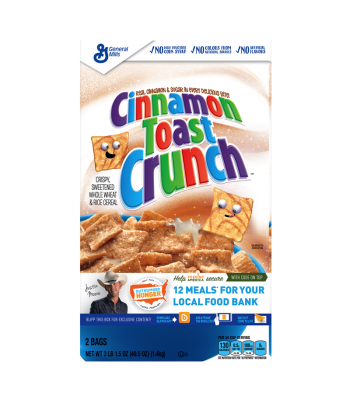 Cinnamon Toast Crunch Cereal GIANT box - 49.5oz (1.4kg) Food and Groceries General Mills