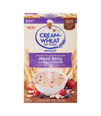 Cream Of Wheat Instant Mixed Berry & Almond 7.38oz (210g) Food and Groceries