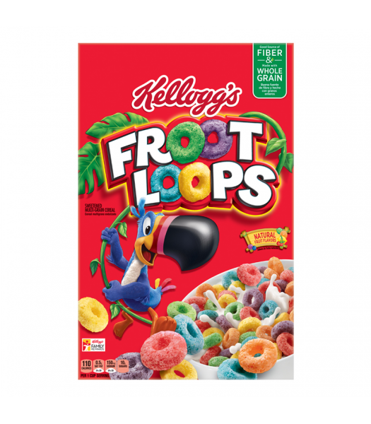 Clearance Special - Kellogg's Froot Loops 12.2oz (345g) **Best Before: September/October 19** Clearance Zone