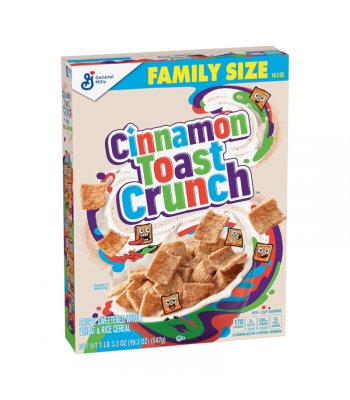 General Mills Cinnamon Toast Crunch Cereal 19.3oz (547g) FAMILY SIZE Food and Groceries General Mills