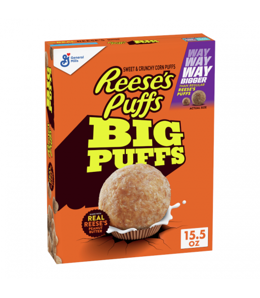 General Mills Reese's BIG PUFFS Cereal - 15.5oz (439g) Food and Groceries General Mills
