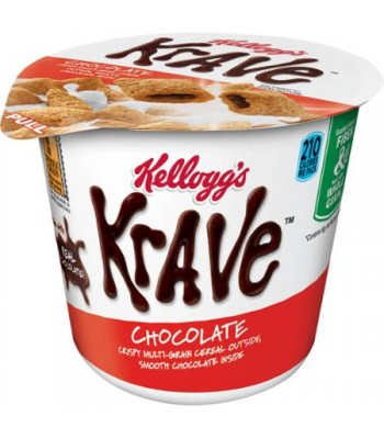 Clearance Special - Kellogg's Cereal In A Cup Krave 1.87 oz (53g) **Best Before: 30 September 17** Clearance Zone
