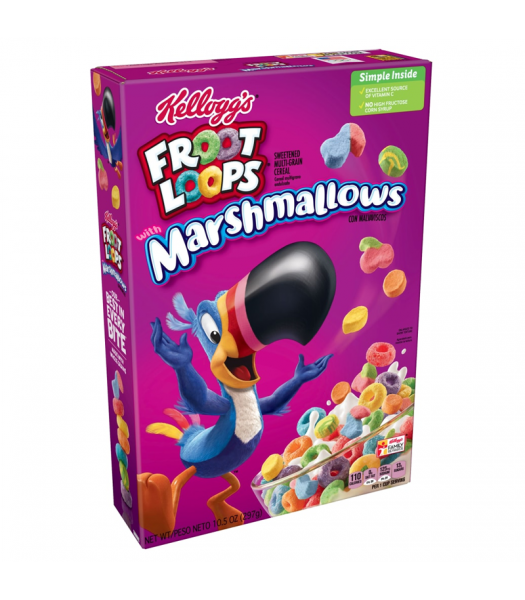 Clearance Special -  Froot Loops Marshmallows - 10.5oz (297g) **Best Before: 11 May 20** Clearance Zone