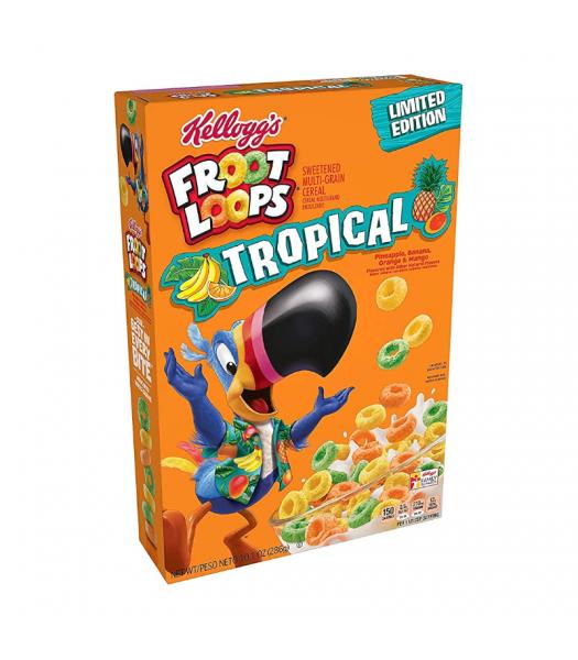 Kellogg's Froot Loops Tropical - 10.1oz (286g) Food and Groceries Kellogg's