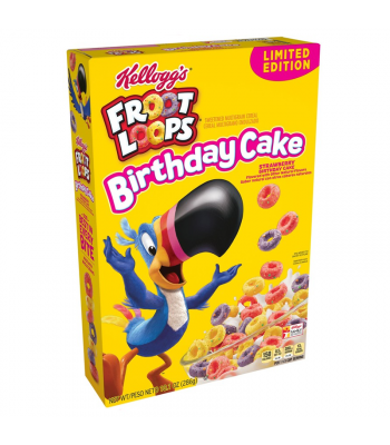 Kellogg's Limited Edition Strawberry Birthday Cake Froot Loops - 10.1oz (286g) Food and Groceries Kellogg's