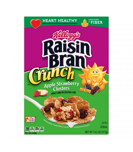 Kellogg's Raisin Bran Crunch Apple Strawberry Clusters Cereal - 14.5oz (411g) Food and Groceries Kellogg's