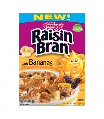 Kellogg's Raisin Bran with Bananas Cereal - 14.5oz (411g) Food and Groceries Kellogg's