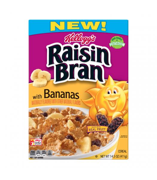 Kellogg's Raisin Bran With Bananas 15.9oz (450g) Food and Groceries Kellogg's