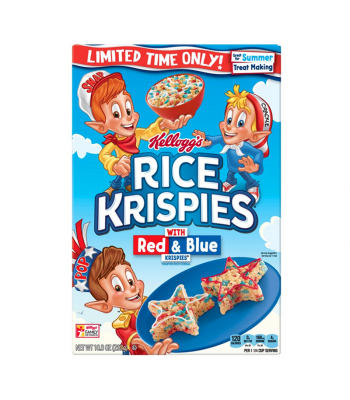 Kellogg's Limited Edition Rice Krispies w/ Red & Blue Krispies - 10.3oz (292g) Food and Groceries Kellogg's