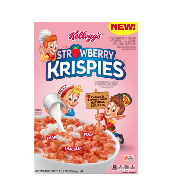 Kellogg's Strawberry Krispies Cereal - 11.5oz (326g) Food and Groceries Kellogg's