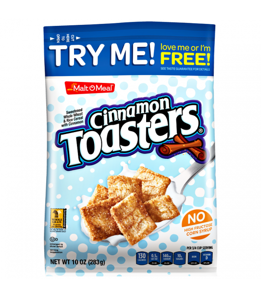 Malt-O-Meal Cinnamon Toasters Cereal 10oz (283g) Food and Groceries