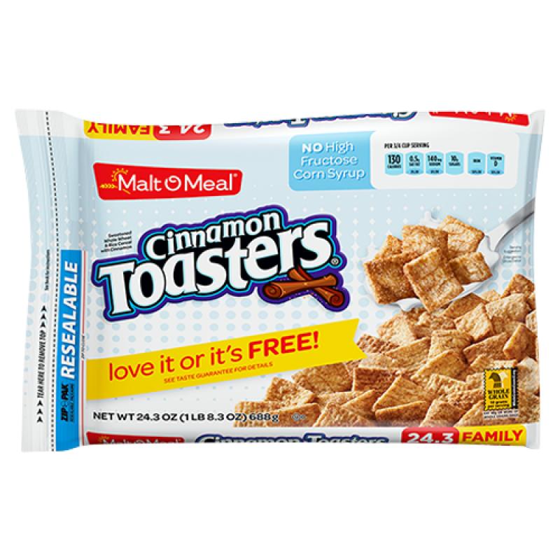 Malt-O-Meal Cinnamon Toasters Cereal 24.4oz (691g