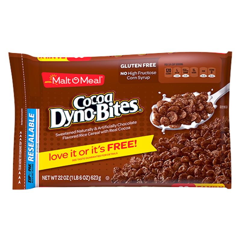 Malt-O-Meal Cocoa Dyno-Bites Cereal 22oz (623g)