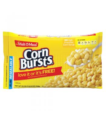 Malt-O-Meal Corn Bursts Cereal 25oz (708g) Breakfast & Cereals