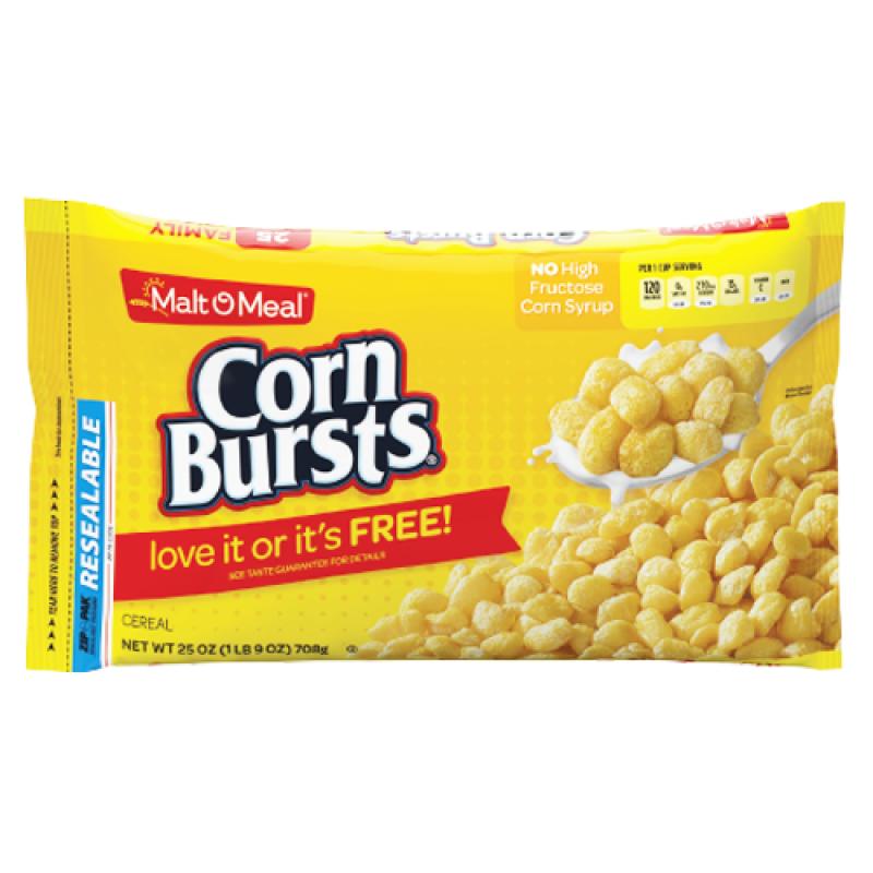 Malt-O-Meal Corn Bursts Cereal 25oz (708g)