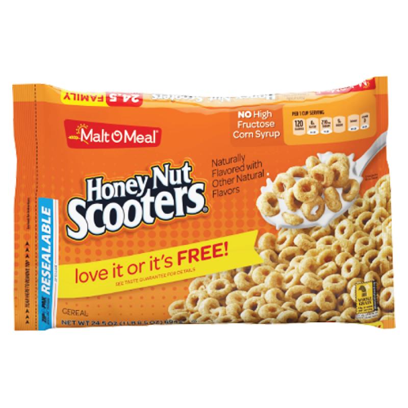 Malt-O-Meal Honey Nut Scooters Cereal 24.5oz (694g