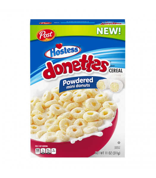 Post Hostess Donettes Powdered Mini Donuts Cereal - 11oz (311g) Food and Groceries Post
