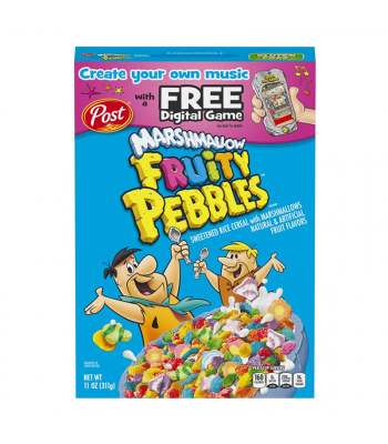 Post Marshmallow Fruity Pebbles Cereal - 11oz (311g) Food and Groceries Post