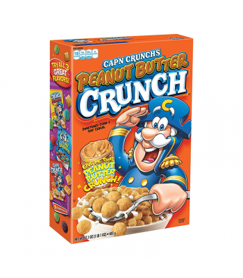 Quaker Cap'n Crunch Peanut Butter - 17.1oz (485g) Food and Groceries Quaker