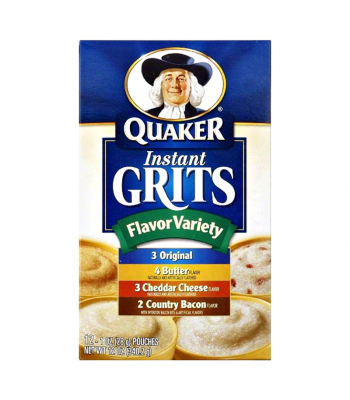 Clearance Special - Quaker Instant Grits - Flavor Variety 12oz (340.2g) ** Best Before: 29 June 2017 ** Clearance Zone