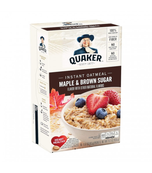 Quaker Instant Oatmeal Maple & Brown Sugar - 15.1oz (430g) Food and Groceries Quaker