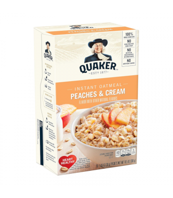 Quaker Instant Oatmeal Peaches & Cream - 10.5oz (300g) Food and Groceries Quaker