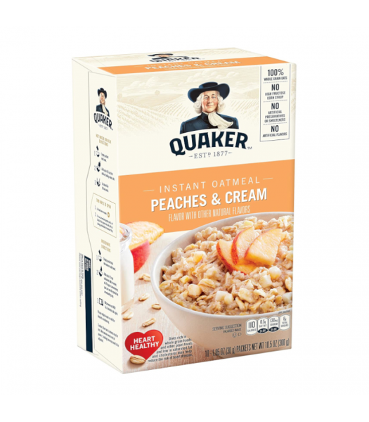 Quaker Instant Oatmeal Peaches & Cream - 10.5oz (300g) Food and Groceries Quaker