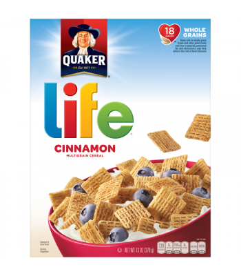 Quaker Life Cinnamon Multigrain Cereal Box 13oz (370g) Food and Groceries Quaker