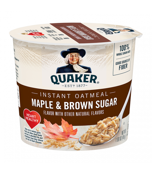 Quaker Oats Maple Brown Sugar Cup 1.69oz (48g) Food and Groceries Quaker