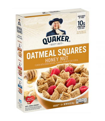 Quaker Oat Squares Honey Nut Cereal 14.5oz (411g) Food and Groceries Quaker