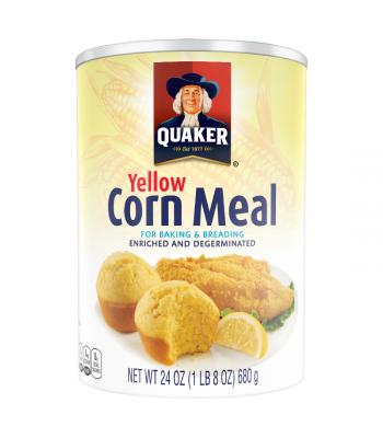 Quaker Yellow Corn Meal - 24oz (680g) Baking & Cooking Quaker