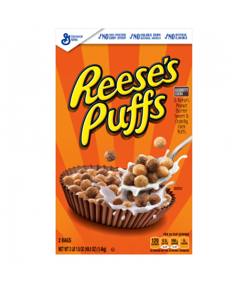 Reese's Puffs Cereal GIANT box - 49.5oz (1.4kg)