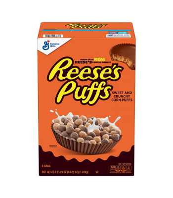 Reese's Puffs Cereal GIANT box - 43.25oz (1.22kg) Food and Groceries Reese's