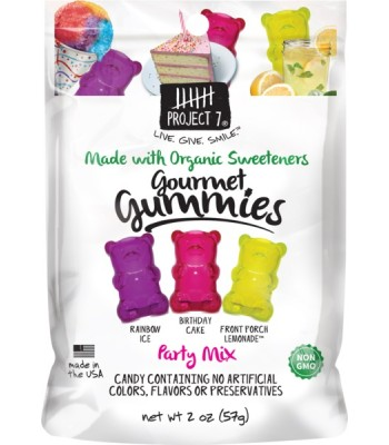 Clearance Special - Project 7 Gourmet Gummies - Party Mix 2oz (57g) **Best Before: 10 February 18** Clearance Zone