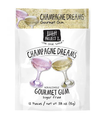 Project 7 Champagne Dreams Sugar Free Gourmet Gum 0.53oz (15g)