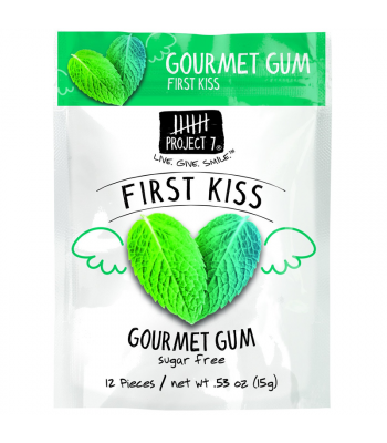 Clearance Special - Project 7 First Kiss Sugar Free Gourmet Gum 0.53oz (15g) **Best Before: 28 October 18** Clearance Zone