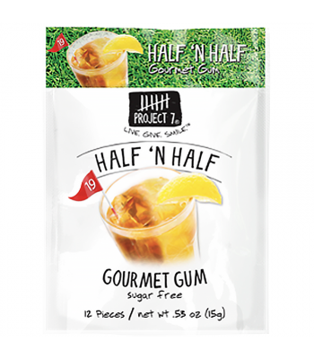 Clearance Special - Project 7 Half & Half Sugar Free Gourmet Gum 0.53oz (15g)	**Best Before: 23 March 19 ** Clearance Zone