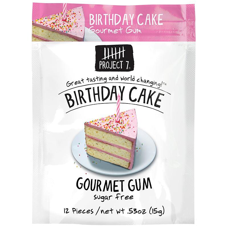 Project 7 Birthday Cake Sugar Free Gourmet Gum 053oz 15g