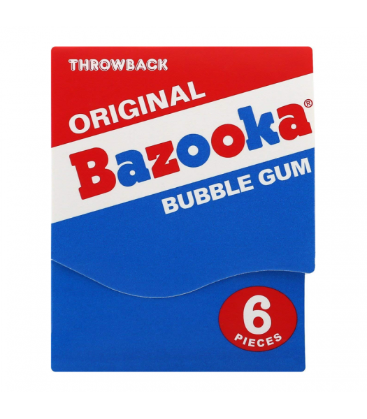 Bazooka Gum Throwback Mini Wallet 6-Piece Pack (43g) Sweets and Candy Bazooka