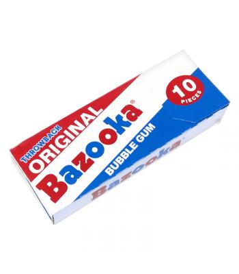 Bazooka Throwback Original Bubble Gum - 10 Pieces Bubble Gum Bazooka